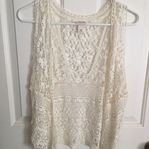 Mossimo Supply Co. Jackets & Coats - Lace cover up vest mossimo Coachella